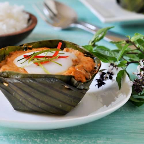 """""""Thai Curry Fish Custard"""" or """"Hor Mok"""""""