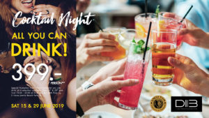 Cocktail Night – All you can drink! @ D.I.B. Inspiration Sky Bar