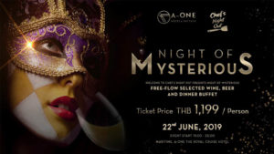Chef's Night Out of Mysterious @ A-ONE The Royal Cruise Hotel